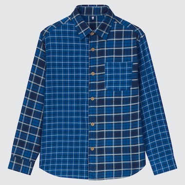 KIDS FLANNEL CHECKED LONG-SLEEVE SHIRT