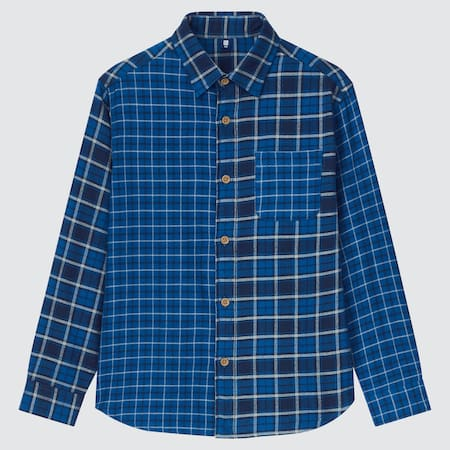 Kids Flannel Crazy Checked Long Sleeve Shirt
