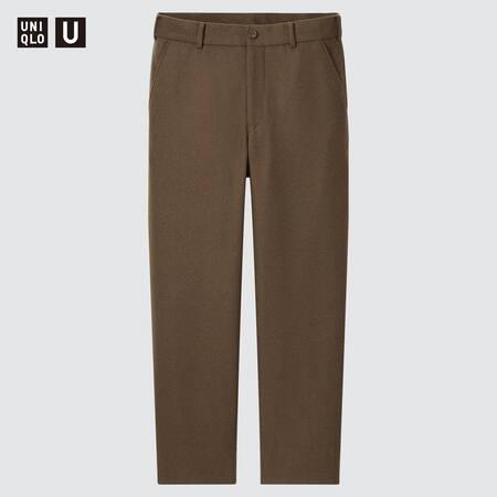 Men Uniqlo U Wool Blend Wide Fit Trousers