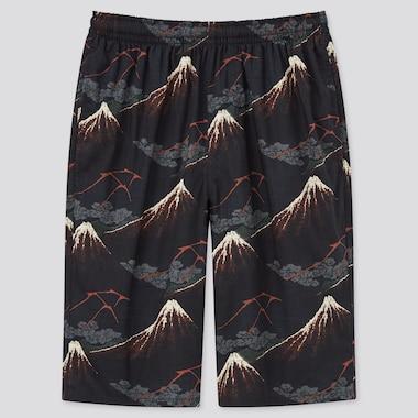 Men Edo Ukiyo-e Unsodo Light Cotton Easy Shorts