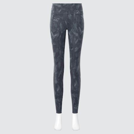 Damen Gemusterte AIRism Soft Leggings mit UV-Schutz