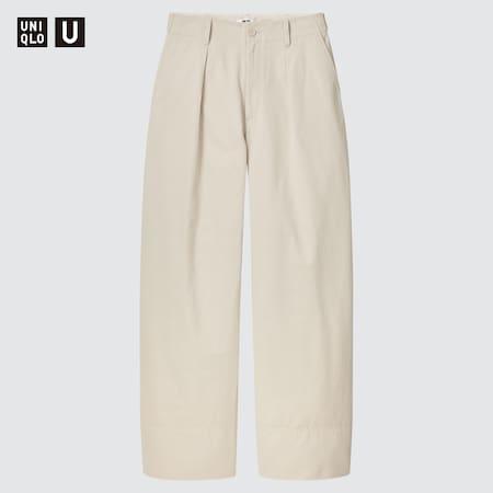 Women Uniqlo U Cotton Twill Trousers