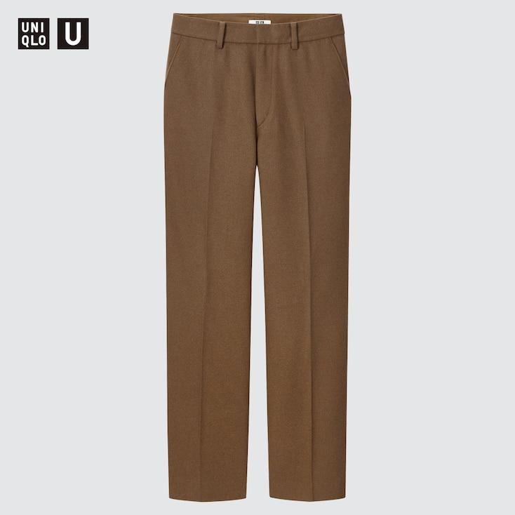 80s Jeans, Pants, Leggings | 90s Jeans UNIQLO Womens U Wool-Blend Tailored Pants Brown size 14 $69.90 AT vintagedancer.com