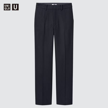 Women Uniqlo U Wool Blend Tailored Trousers