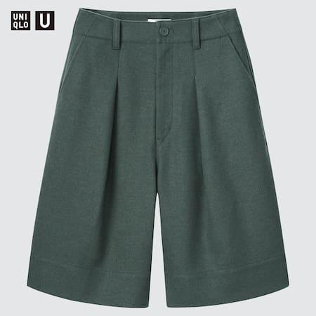 Damen Uniqlo U Wollmix Jersey Faltenshorts