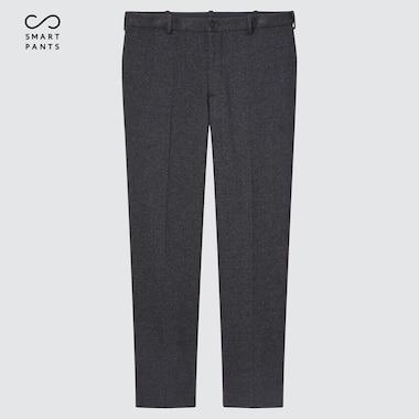 Men Smart 2-Way Stretch Jersey Ankle-Length Pants, Dark Gray, Medium