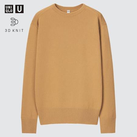 Herren Uniqlo U 3D Extra feine Merinowolle Pullover