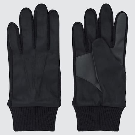 Herren Gefütterte HEATTECH Handschuhe in Wildlederoptik