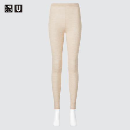 Legging Côtelé Uniqlo U en Mérinos Extra Fin Femme