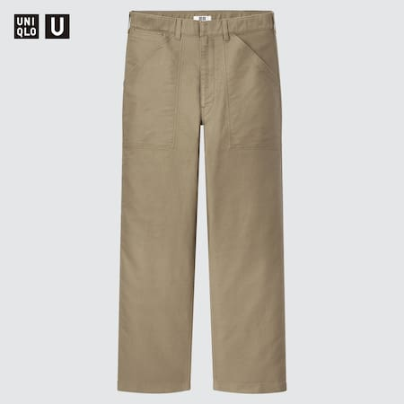 Men Uniqlo U Wide Fit Work Trousers