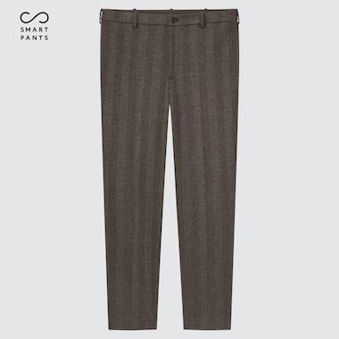 Men Smart 2-Way Stretch Jersey Ankle-Length Pants, Dark Brown, Medium