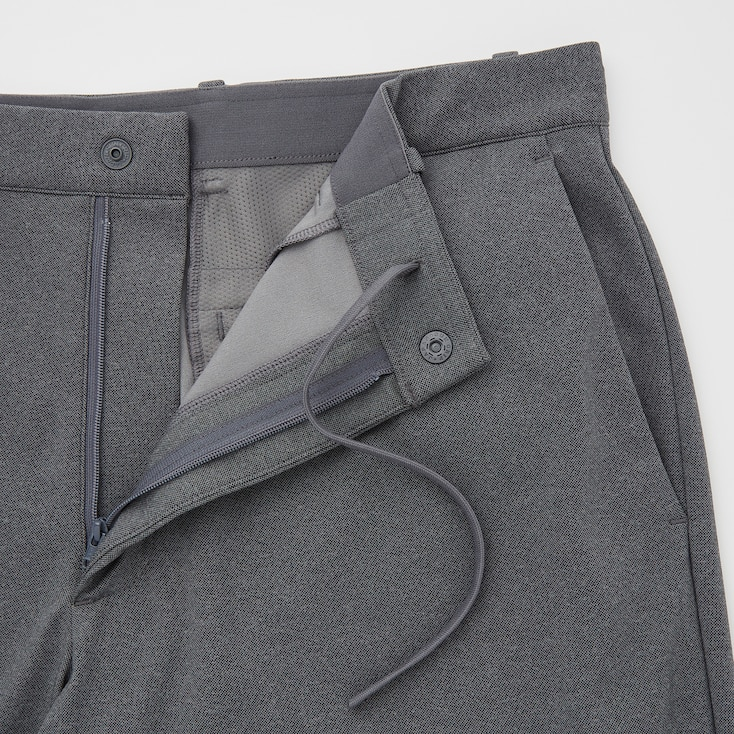 Men Smart Dry-Ex Ultra Stretch Ankle-Length Pants, Gray, Large