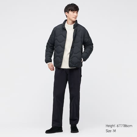 Men Ultra Light Down Wave Quilted Jacket