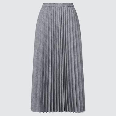 Women Accordion Pleated Skirt (Online Exclusive), Gray, Medium