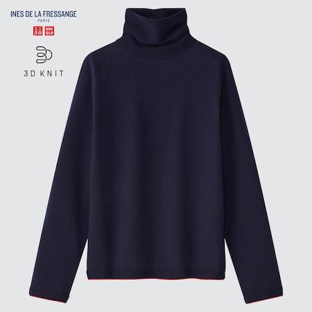 Women Ines de la Fressange 3D Knit Seamless Extra Fine Merino Jumper