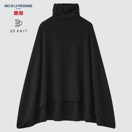 Women Ines de la Fressange 3D Knit Seamless Cashmere Blend Manteau