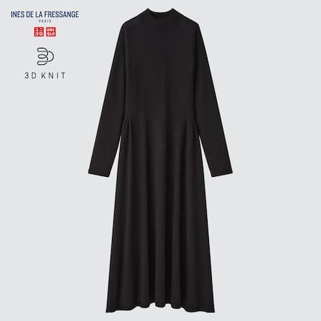 Damen Ines 3D Knit nahtloses ausgestelltes Kleid