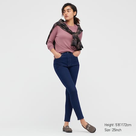 Women High Rise Skinny Fit Ankle Length Jeans (Long)