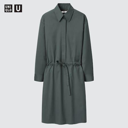 Damen Uniqlo U Wollmix Hemdkleid