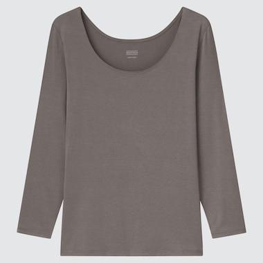 WOMEN HEATTECH SCOOP NECK LONG-SLEEVE T-SHIRT