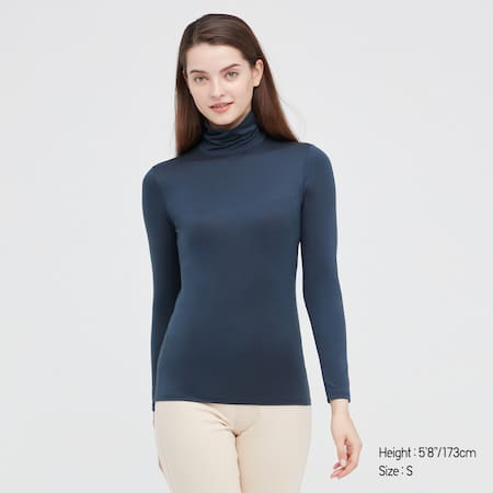 WOMEN HEATTECH Turtleneck Long Sleeved Top