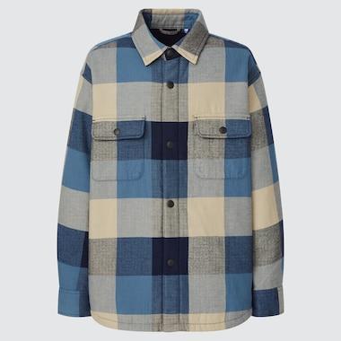 KIDS FLANNEL PILE-LINED SHIRT JACKET