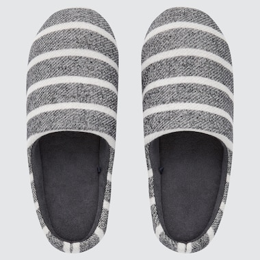 STRIPED RUBBER-SOLED SLIPPERS