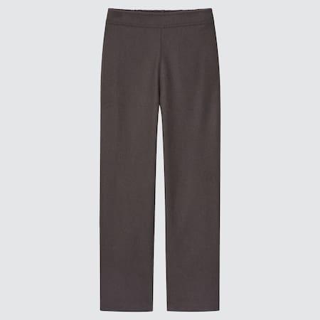Women Brushed Jersey Straight Leg Trousers (Long)