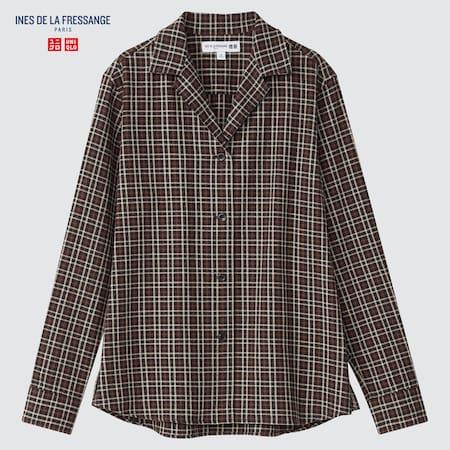Women Ines de la Fressange Flannel Checked Shirt