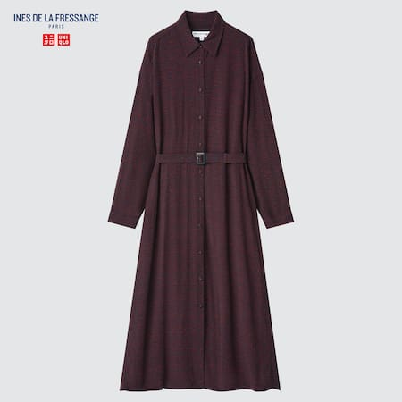 Damen Ines de la Fressange Gemustertes Viskose Hemdkleid