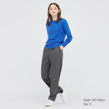 WOMEN FLANNEL TAPERED PANTS