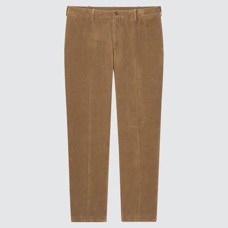Men Smart Comfort Corduroy Ankle Length Trousers (Long)