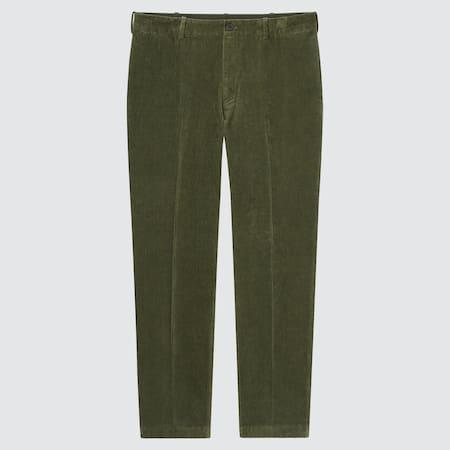 Pantaloni Alla Caviglia Eleganti Smart Velluto A Coste Uomo