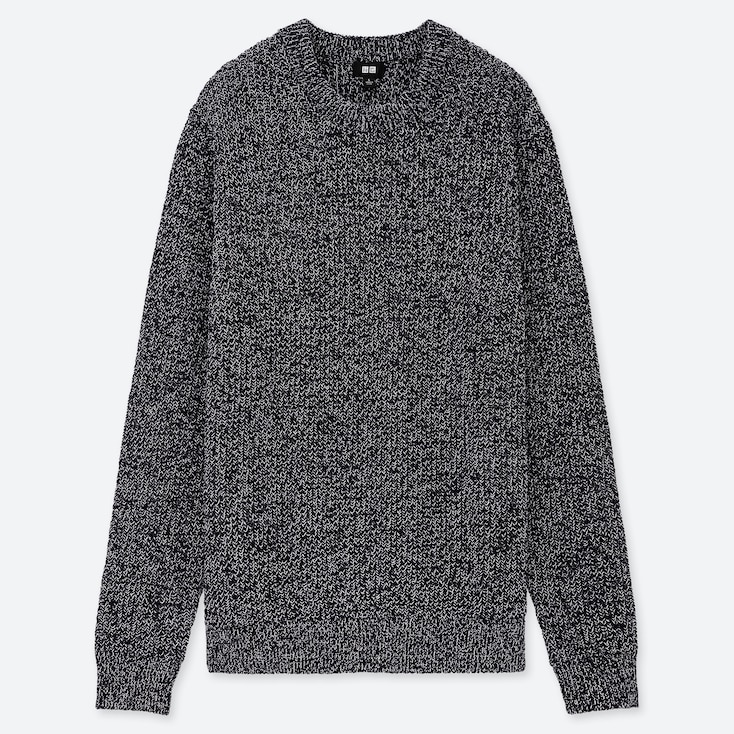 0b9a0d032 MEN MIDDLE GAUGE KNIT RIBBED CREW NECK JUMPER | UNIQLO