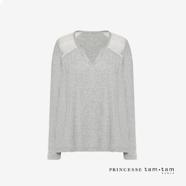 WOMEN PRINCESSE TAM.TAM LONG SLEEVE T-SHIRT DOUCEUR (NEW FLORA)