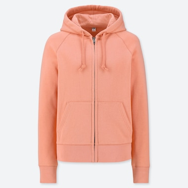 WOMEN LONG SLEEVE ZIPPED HOODIE