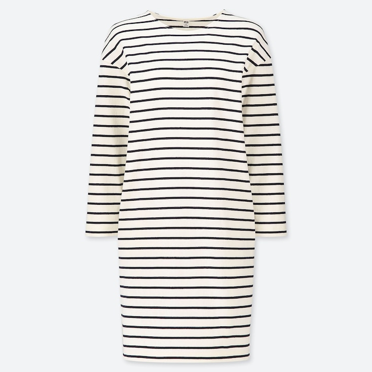 WOMEN STRIPED LONG SLEEVED DRESS