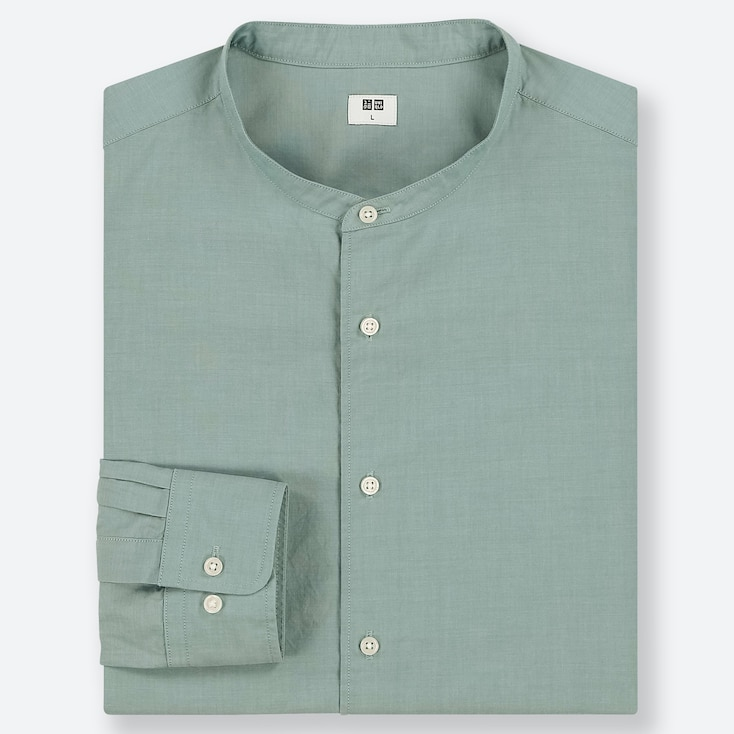MEN EXTRA FINE COTTON SHIRT (STAND COLLAR)