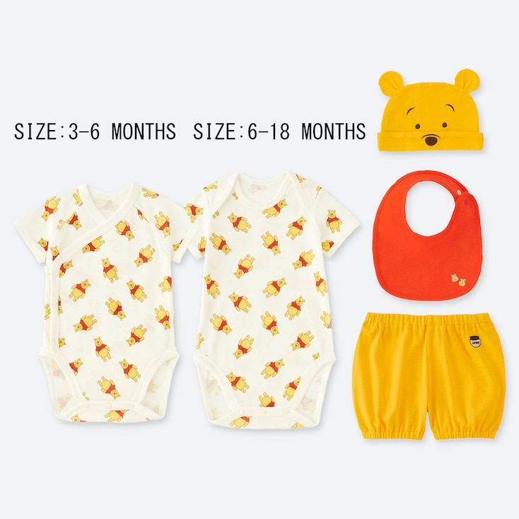 BABIES DISNEY COLLECTION SHORT SLEEVED GIFT SET (FOUR PACK)