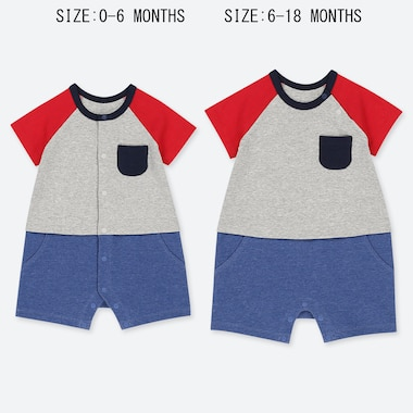 BABIES NEWBORN COLOUR BLOCK ALL IN ONE OUTFIT