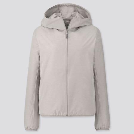 Women UV Protection Hooded Pocketable Parka