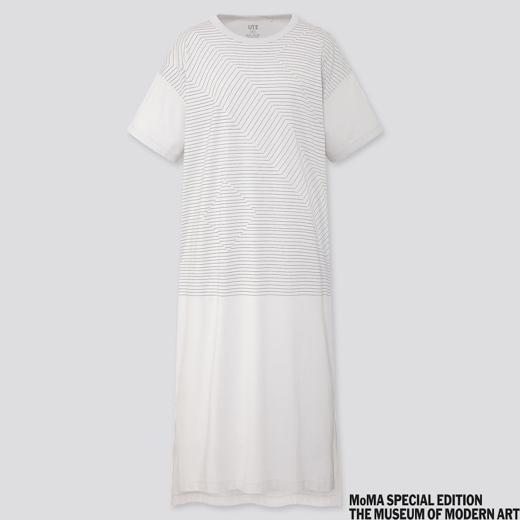 Women Colour And Rhythm Ut Graphic Short Sleeved T Shirt Dress by Uniqlo