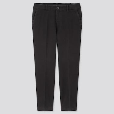 Men Smart Comfort Cotton Ankle Length Trousers
