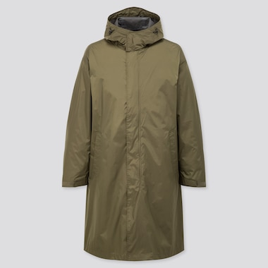 Men Light Blocktech Hooded Coat