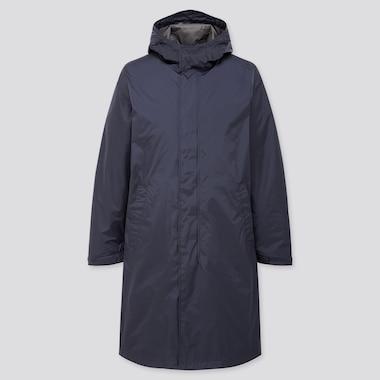 Men Light Blocktech Hooded Coat