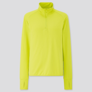 WOMEN AIRISM UV PROTECTION MESH HALF-ZIP LONG SLEEVED SWEATSHIRT