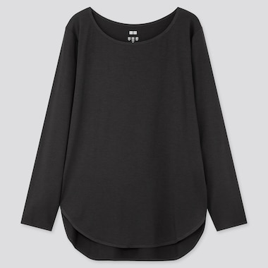 WOMEN AIRISM SEAMLESS LONGLINE LONG SLEEVED T-SHIRT