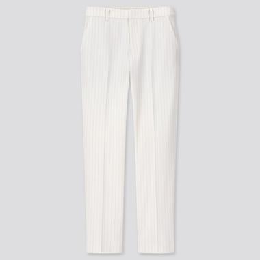 Women Smart Striped Ankle Length Trousers