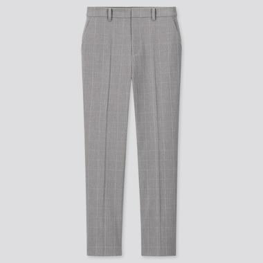 Pantalón Smart Tobillero Cuadros Mujer