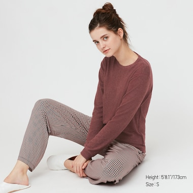 Women HEATTECH Fleece Stretch Crew Neck Thermal Top